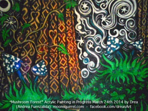 mushroomForestProgressMarch25th2014